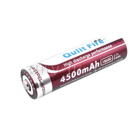 Аккумулятор Qulit Fire 18650-4500mAh, коричневый, фото 2