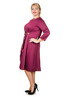 Красивое платье большой размер Карла марсала (52-62)