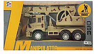 Военная машина грузовик с краном на радиоуправлении 7M-394/396