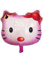 Фольгированный шар воздушный Китти с бантиком