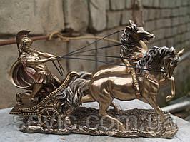 Статуэтка Veronese Римский Воин на колеснице 17 см