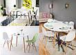 Обеденный стол в скандинавском стиле круглый нераскладной  DT-9017  Evrodim, цвет белый, фото 4