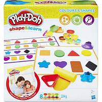 Плей-Дох игровой набор Форма и обучение Цвета и фигуры Play-Doh B3404