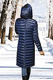 Женское пальто(пуховик) хаки, синий, фото 3