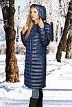 Женское пальто(пуховик) хаки, синий, фото 4