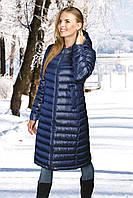 Женское пальто(пуховик) синий, фото 1