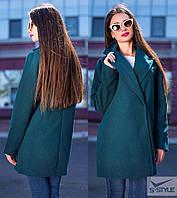 Женское пальто из кашемира (зеленый)