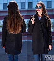 Женское пальто из кашемира (черный)