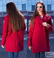 Женское пальто из кашемира (красный)
