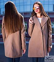 Женское пальто из кашемира (бежевый)