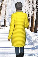 Женское полупальто желтый