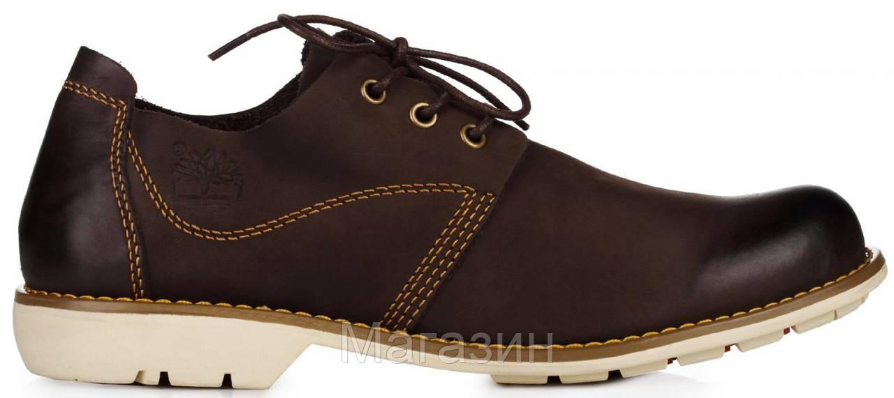 Мужские туфли Timberland Oxford Brown (Тимберленды) коричневые