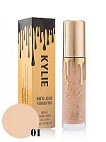 Тональный крем Kylie Matte Liquid Foundation №1 (реплика)