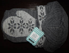 Теплый зимний комплект (шапка+шарф с варежками) от Kamea - Luba, фото 3