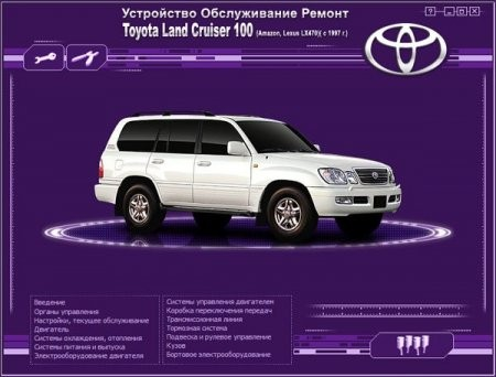 TOYOTA Land Cruiser 100 (Amazon, Lexus LX470) с 1997 г.