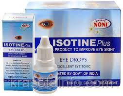 Айсотин Плюс  (Isotine Plus) глазные капли, восстановление зрения, усиленная формула, Индия,10 мл