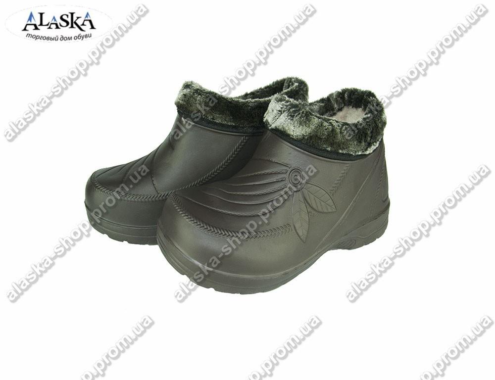 Женские галоши (Код: 923 мех черный)