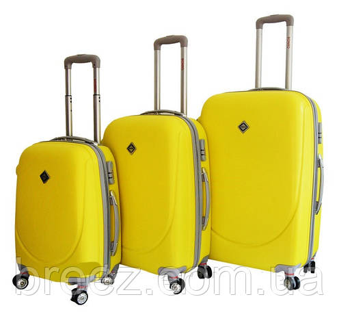 c5713ac56fa4 Чемодан Bonro Smile с двойными колёсами набор 3 штуки желтый М, фото 2