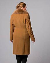 Пальто зимне воротник шаль, 48-56р   горчица, фото 3