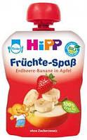 8521-02 HIPP Фруктове пюре «Яблуко-Полуниця-Банан», 100г