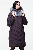 Женское зимнее пальто оттенка шоколад