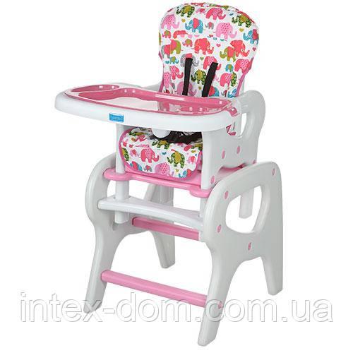 Детский стульчик со столиком Bambi (M 0816-15) РОЗОВЫЙ
