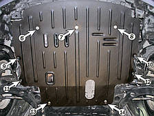 Защита двигателя Mazda 2 (2008-2014) Полигон-Авто