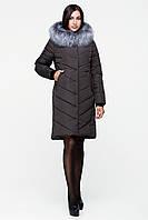 Зимнее пальто женское оттенка хаки
