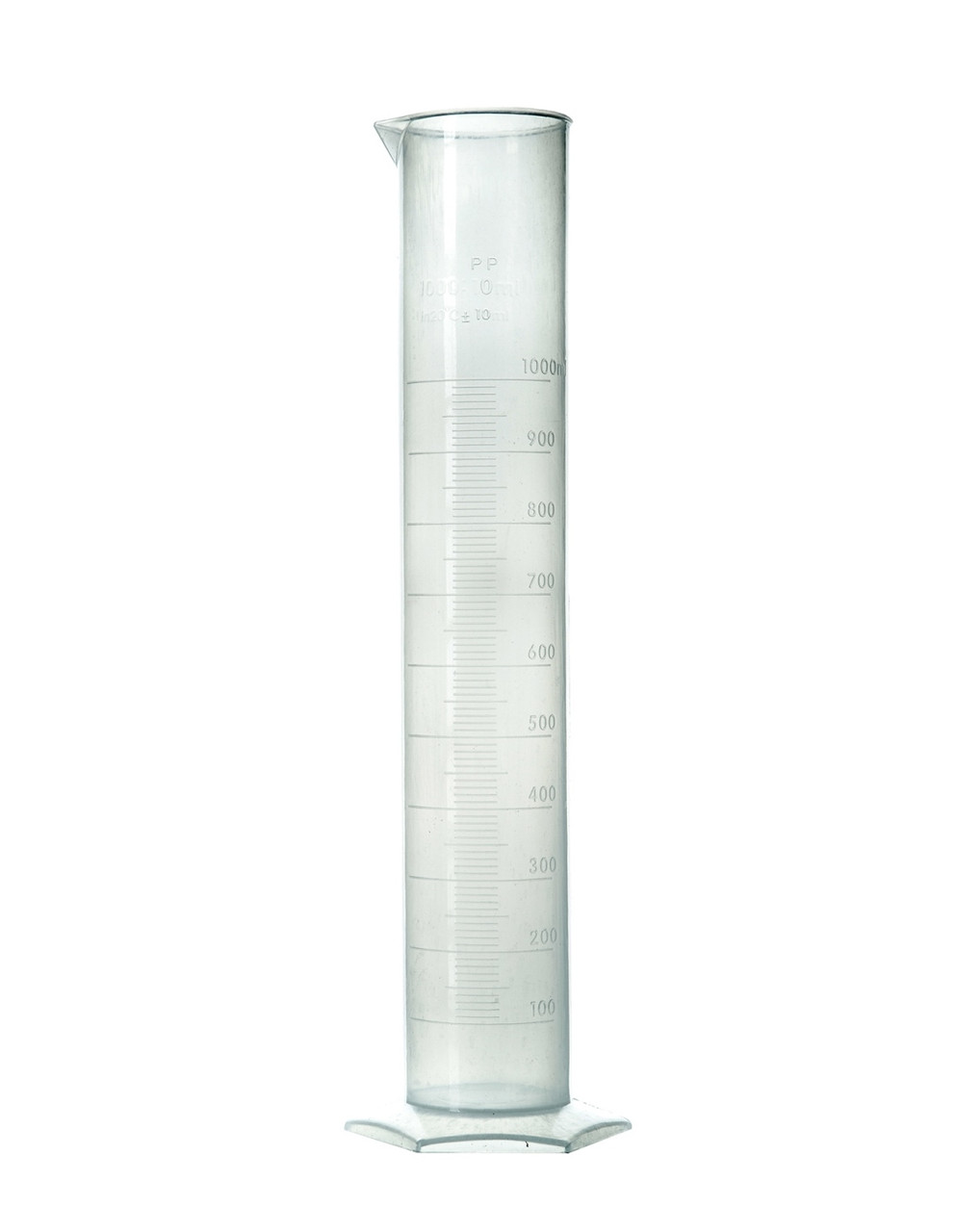 Цилиндр мерный с рельефной шкалой