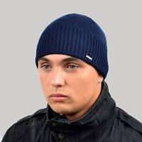 Мужская шапка вязанная