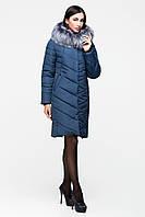 Зимняя женская  куртка цвета морской волны
