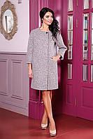 Женское бежевое пальто В-1052 W09+BND Тон 48 44-54 размер