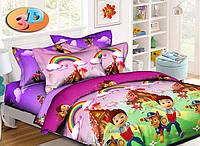 Детский комплект постельного белья полуторный, ранфорс 100% хлопок. Постільна білизна дитяча. (арт.6436)