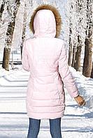 Женское полупальто розовое
