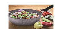 Сковорода 24cм без крышки алюминиевая с 3-х слойным мраморным покрытием, фото 1