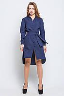 Платье женское Евгения темно синий Коктейльное платье, Leo Pride, 42, Романтический