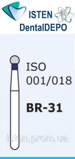 Боры BR-31, синий шарообразный, MANI (3 шт.)
