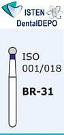 Боры BR-31, синий шарообразный, MANI (3 шт.), фото 1