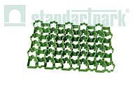 Решетка газонная - 60.40.3,8 пластиковая зеленая (1кв.м. = 4,4 модуля)