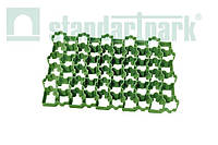 Решетка газонная - 60.40.3,8 пластиковая черная (1кв.м. = 4,4 модуля)