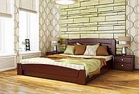 Кровать двуспальная Селена-Аури с подъемным механизмом тм Эстелла Массив бука, 120х190/200, №104 Красное дерево