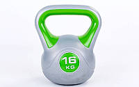 Гиря пластиковая 7734-16: вес 16кг