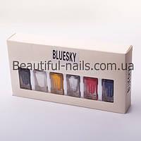Набор лак-красок для стемпинга Bluesky STAMPING NAIL POLISH, 6 разных цветов