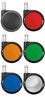 Ролики мягкие черные и разноцветные для стульев Salli