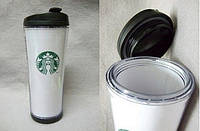 Термокружка тамблер Starbucks (Старбакс) 380 мл Черная Модель 1
