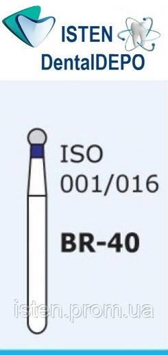 Боры BR-40, синий шарообразный, MANI (3 шт.)