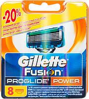 Кассеты для бритья Gillette Fusion ProGlide Power сменные 8шт