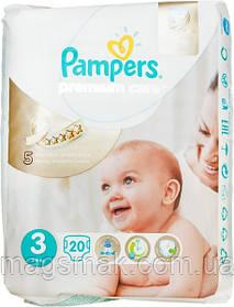 Подгузники Pampers Premium Care Midi 3 для детей 5-9 кг 20шт