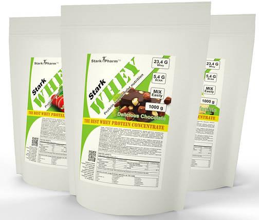 Протеїн Гадяч КСБ 70% (Шоколад, Ваніль, Вишня, Фундук, Полуниця, Банан) 1 кг, фото 2