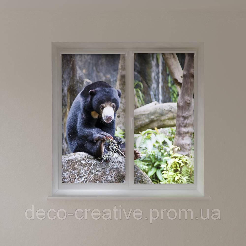 Рулонные шторы животные медведь